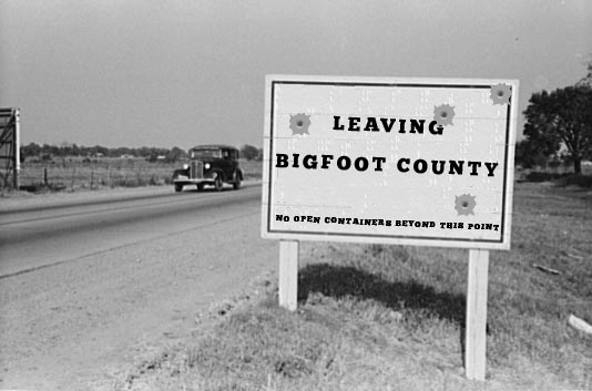 Leaving Bigfoot County - No OPen Containers